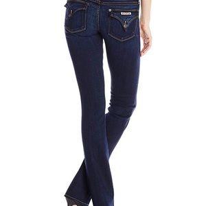 Hudson Women's Beth Baby Slim Leg Boot Cut Jeans